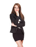 Cool beautiful young businesswoman. Stock Photography