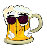 Cool beer cartoon Royalty Free Stock Photo