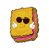 Cool biscuit cartoon Royalty Free Stock Image