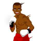 Cool black boxer. Sports concept. Royalty Free Stock Photos
