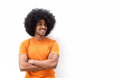 Cool black guy smiling with arms crossed Royalty Free Stock Photography