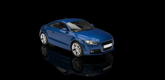 Cool Blue Car Royalty Free Stock Photos
