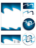 Cool blue company vector set Stock Photo