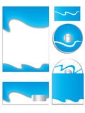 Cool blue company vector set 2 Stock Photos