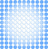 Cool blue dot fade background. Abstract blue dot faded background with blank space in middle for product image, logo, or text placement Stock Photo