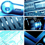 Cool Blue Electronic Stock Image