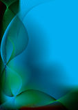 Cool blue glide. Abstract blue and green background with flowing wavy lines Royalty Free Stock Image
