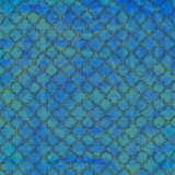 Cool blue and green trellis background. Textured cool medium blue and sea green glittered trellis background Stock Image