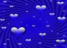 Cool blue hearts Royalty Free Stock Photos
