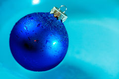Cool blue ice ball decoration close up Royalty Free Stock Image