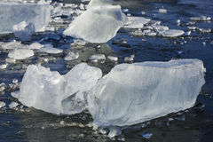 Cool blue ice sheets. Stock Images