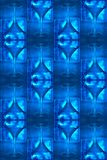 Cool blue martini glass pattern. Cool blue pattern: martini glass, glass blocks with jack frost wintry ice crystal patterns Stock Photos