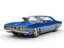 Cool blue muscle car - studio shot Stock Photography