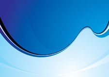 Cool blue swoosh Stock Photography