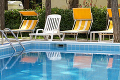 Cool blue water swimpool. Side Royalty Free Stock Images