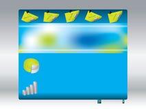 Cool blue website design Stock Image