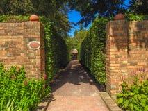 Cool borders. In Cloudehill Gardens in Olinda, Victoria, Australia Stock Images