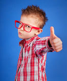 Cool boy. Cool five years old boy showing ok sign Royalty Free Stock Image