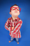 Cool boy. Funny portrait of a five years old sulky boy Royalty Free Stock Photo