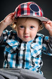 Cool boy with cap Royalty Free Stock Images