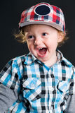 Cool boy with cap Royalty Free Stock Image