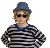 Cool boy child Stock Photo