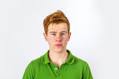 Cool boy in green shirt Stock Image
