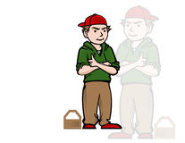 Cool boy with red hat Royalty Free Stock Photos