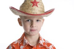 Cool Boy With Sheriff Hat Royalty Free Stock Images