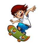 Boy skating vector illustration