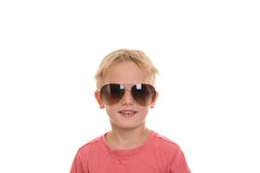 Cool boy with sunglasses Royalty Free Stock Photo