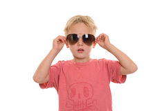 Cool boy with sunglasses Stock Photos