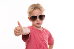 Cool boy with thumb up Royalty Free Stock Image