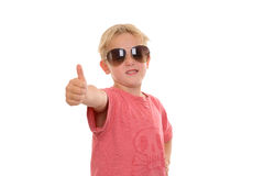 Cool boy with thumb up Royalty Free Stock Photos