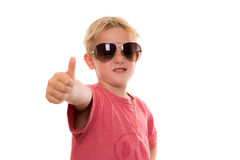 Cool boy with thumb up Stock Photography