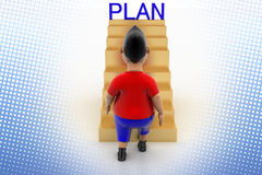 Cool Boy Walking Up Plan Stairs In Halftone Stock Photo