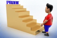 Cool Boy Walking Up Plan Stairs In Halftone Royalty Free Stock Photo