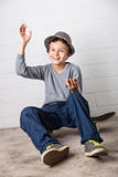 Cool Boy waving Hello! Royalty Free Stock Images