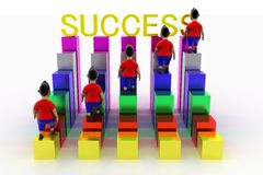 Cool Boys Climbing In Success Text Graph Royalty Free Stock Photo