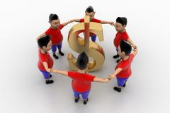 Cool Boys Form Circled Group  In  Dollar Stock Photography