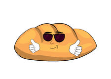 Cool bread cartoon Stock Images