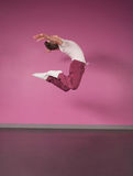 Cool break dancer jumping up Royalty Free Stock Photos