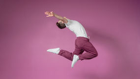 Cool break dancer jumping up Stock Image