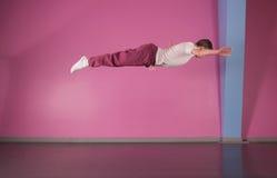 Cool break dancer mid air Royalty Free Stock Photo