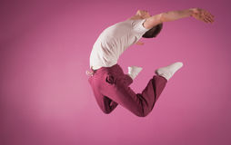 Cool break dancer mid air Royalty Free Stock Photography
