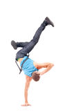 Cool breakdance style dancer posing Royalty Free Stock Photos