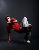 Cool breakdancer in pose Royalty Free Stock Image
