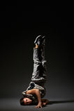 Cool breakdancer standing in freeze Royalty Free Stock Photo