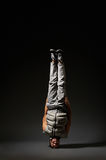 Cool breakdancer standing on his head Royalty Free Stock Images