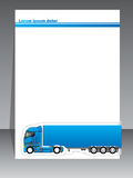 Cool brochure design for transportation companies Royalty Free Stock Image